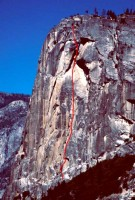 Washington Column - Mideast Crisis A2 5.7 - Yosemite Valley, California USA. Click to Enlarge