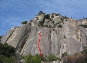 Arch Rock - English Breakfast Crack 5.10c - Yosemite Valley, California USA. Click to Enlarge