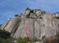Arch Rock - English Breakfast Crack 5.10c - Yosemite Valley, California USA. Click to Enlarge