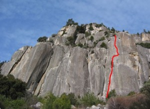 Arch Rock - Gripper 5.10b - Yosemite Valley, California USA. Click to Enlarge