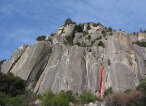 Arch Rock - Leanie Meanie 5.11b - Yosemite Valley, California USA. Click to Enlarge