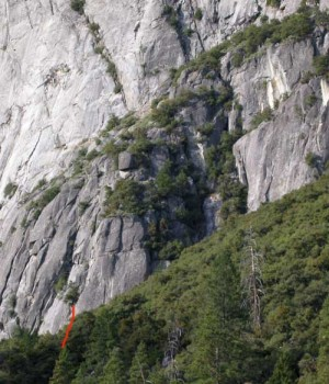 Camp 4 Wall - Doggie Deviations 5.9 - Yosemite Valley, California USA. Click to Enlarge