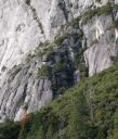 Camp 4 Wall - Doggie Deviations 5.9 - Yosemite Valley, California USA. Click for details.