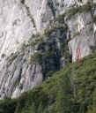 Camp 4 Wall - Henley Quits 5.10b - Yosemite Valley, California USA. Click for details.