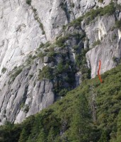 Camp 4 Wall - Henley Quits 5.10b - Yosemite Valley, California USA. Click to Enlarge