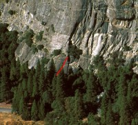 Church Bowl - Book of Revelations 5.11a - Yosemite Valley, California USA. Click to Enlarge