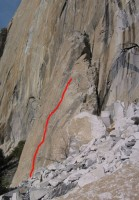 El Capitan - The Bluffer 5.11d - Yosemite Valley, California USA. Click to Enlarge