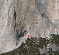 El Capitan - Gollum, Right 5.8 - Yosemite Valley, California USA. Click to Enlarge