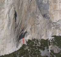 El Capitan - Simulkrime 5.9 R - Yosemite Valley, California USA. Click to Enlarge