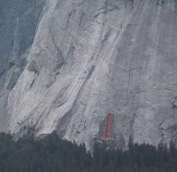 Glacier Point Apron - Harry Daley 5.8 - Yosemite Valley, California USA. Click to Enlarge