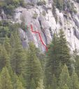 Knob Hill - Anti Ego Crack 5.7 - Yosemite Valley, California USA. Click for details.