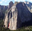 Middle Cathedral - Kor-Beck 5.9 - Yosemite Valley, California USA. Click for details.
