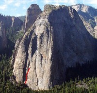 Middle Cathedral - Kor-Beck 5.9 - Yosemite Valley, California USA. Click to Enlarge