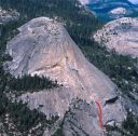 North Dome - Crest Jewel Direct 5.10d - Yosemite Valley, California USA. Click for details.