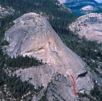 North Dome - Crest Jewel Direct 5.10d - Yosemite Valley, California USA. Click to Enlarge