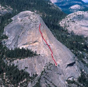 North Dome - South Face 5.7 - Yosemite Valley, California USA. Click to Enlarge