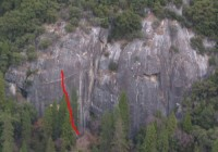 New Diversions Cliff - New Deviations 5.9 - Yosemite Valley, California USA. Click to Enlarge