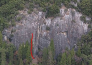 New Diversions Cliff - New Diversions 5.10a - Yosemite Valley, California USA. Click to Enlarge