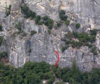 Pat and Jack Pinnacle - Polymastia 5.10d - Yosemite Valley, California USA. Click to Enlarge