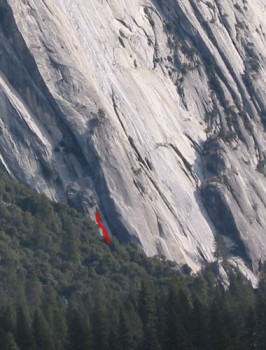 Royal Arches Area - Trial by Fire 5.8 - Yosemite Valley, California USA. Click to Enlarge