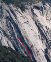Royal Arches Area - Super Slide 5.9 - Yosemite Valley, California USA. Click to Enlarge