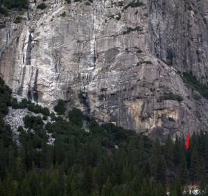 Schultz's Ridge - Dreams of Thailand 5.11d - Yosemite Valley, California USA. Click to Enlarge