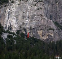 Schultz's Ridge - Hooter Alert 5.10c - Yosemite Valley, California USA. Click to Enlarge