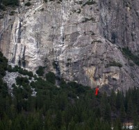 Schultz's Ridge - Warm Up Crack 5.10a - Yosemite Valley, California USA. Click to Enlarge