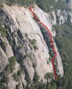 Sunnyside Bench - Regular Route 5.4 - Yosemite Valley, California USA. Click for details.