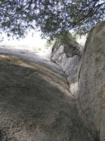 Swan Slab - Lena's Lieback 5.9 - Yosemite Valley, California USA. Click to Enlarge
