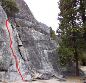 Swan Slab - Penelope's Problem 5.7 - Yosemite Valley, California USA. Click to Enlarge