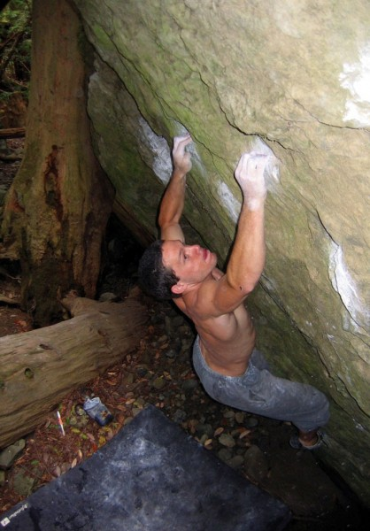 Charlie Barrett on Ganesh (V7).