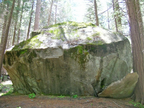 The gunsight boulder.