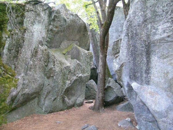 Some of the lower falls boulders.