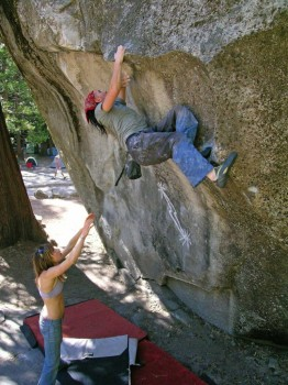 Camp 4 - Columbia Boulders - Yosemite Valley Bouldering, CA, USA. Click to Enlarge