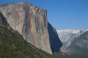 El Capitan - Horse Chute A3 5.7 - Yosemite Valley, California USA. Click to Enlarge