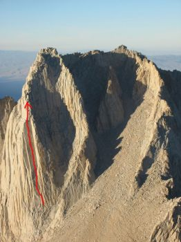 Mt. Russell - Star Trekin 5.10c - High Sierra, California USA. Click to Enlarge