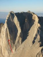 Mt. Russell - Mithral Dihedral 5.10b - High Sierra, California USA. Click to Enlarge
