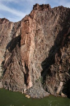 Grapevine Buttress - Regular Route 5.11d of 5.9 A2+ - Grand Canyon, Arizona, USA. Click to Enlarge