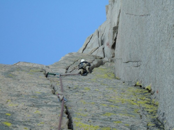 Ken Kenaga on the North Buttress of Merriam Peak