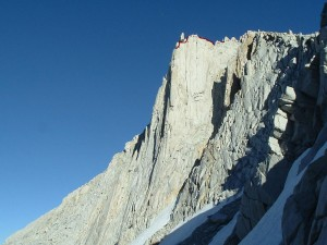 Merriam Peak - North Buttress 5.10b/c - High Sierra, California USA. Click to Enlarge