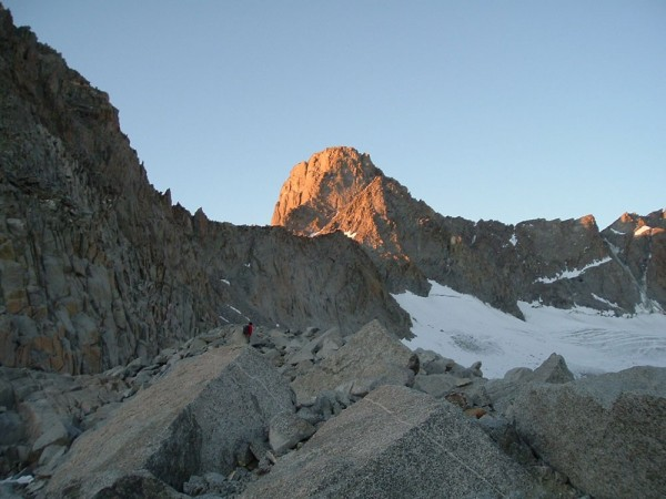 Swiss Arête on Mt. Sill at Sunset.