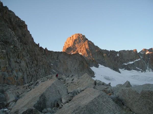 Swiss Arête on Mt. Sill at Sunset.