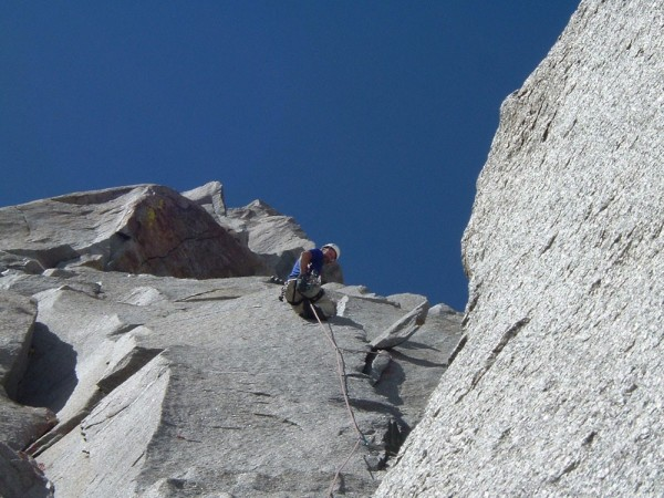 Ken Kenaga on pitch 3 of Pirates, Starlight Peak.
