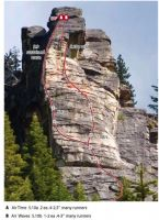 Lover's Leap, Dear John Buttress - Airwaves 5.10b/c - Lake Tahoe, California, USA. Click to Enlarge
