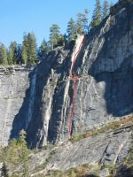 Lover's Leap, Central Wall - Bookmark 5.8 - Lake Tahoe, California, USA. Click to Enlarge