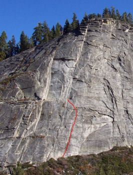 Lover's Leap, East Wall - Preperation H 5.8 - Lake Tahoe, California, USA. Click to Enlarge