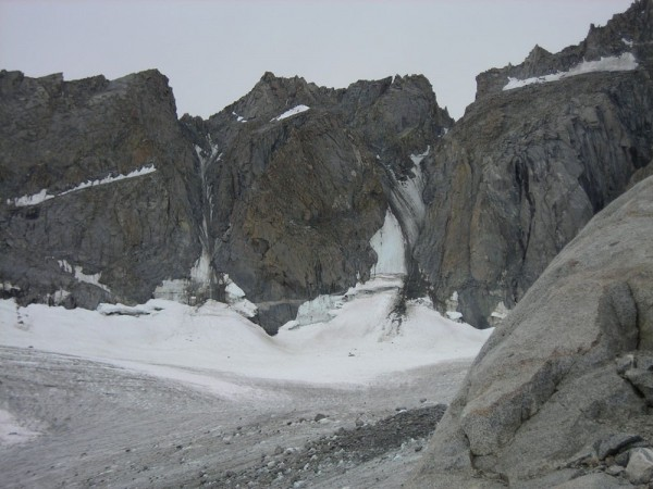U Notch and V Notch Couloir in mid August 2008.