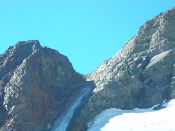 Upper part of the Dana Couloir 8-17-08