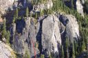 Lover's Leap, Lower Buttress - Beer Can Direct 5.11a - Lake Tahoe, California, USA. Click for details.